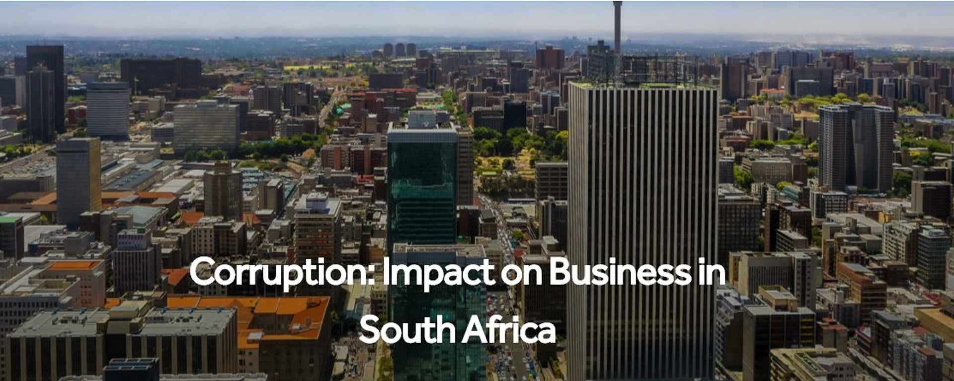 Invest Africa - Corruption: Impact on Business in South Africa Movemeback African event cover image