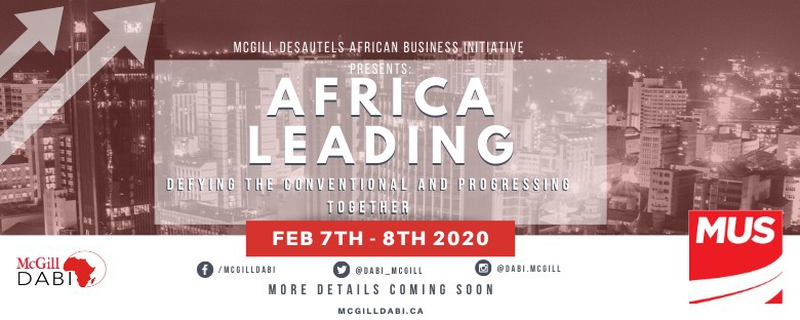 Desautels African Business Initiative (DABI) - Africa Leading: Defying the Conventional and Progressing Together Movemeback African event cover image
