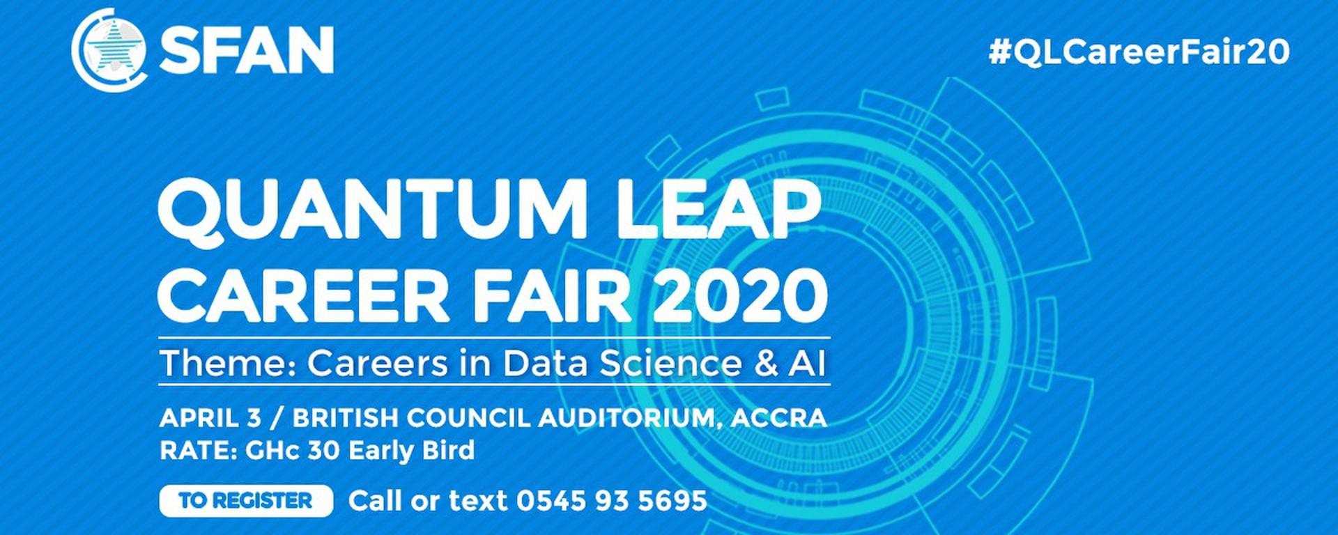 SFAN - Quantum Leap Career Fair 2020 - Careers in Data Science & AI Movemeback African event cover image