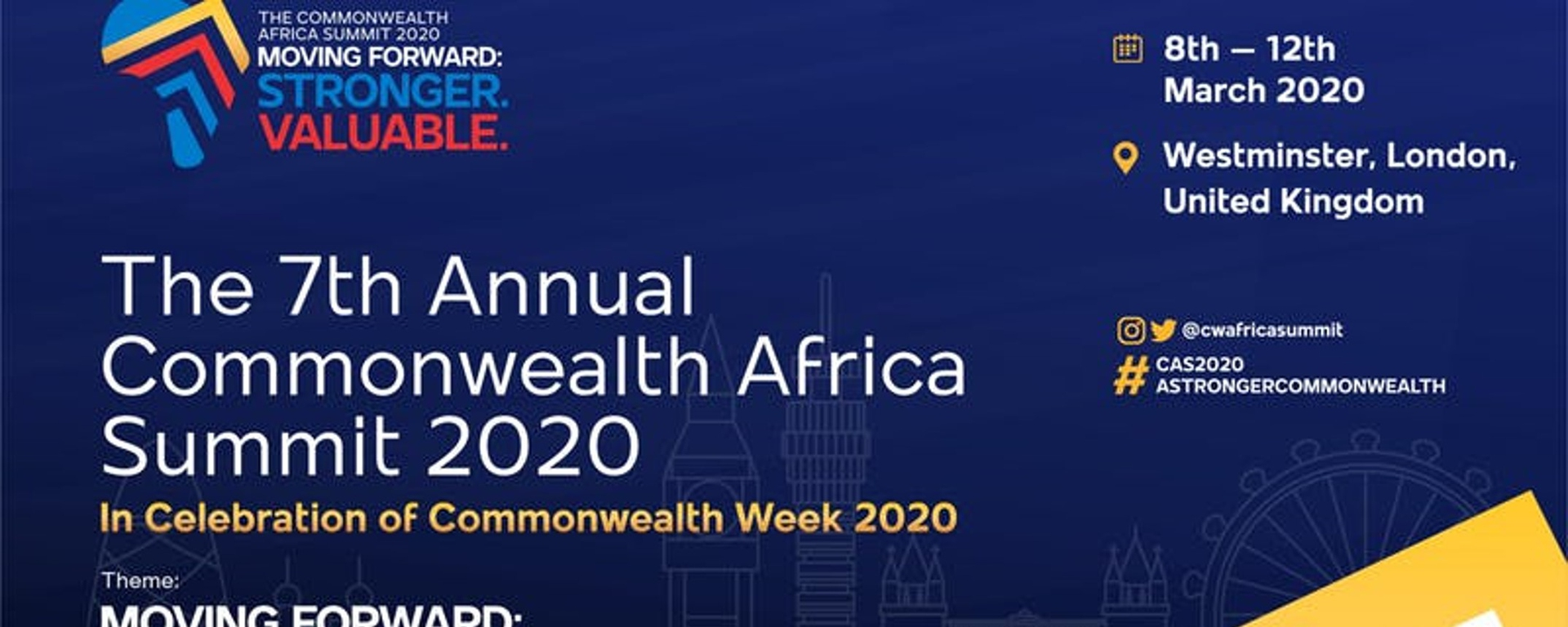 Commonwealth Africa Initiative - 7th Annual Commonwealth Africa Summit #CAS2020! Stronger. Valuable Movemeback African event cover image