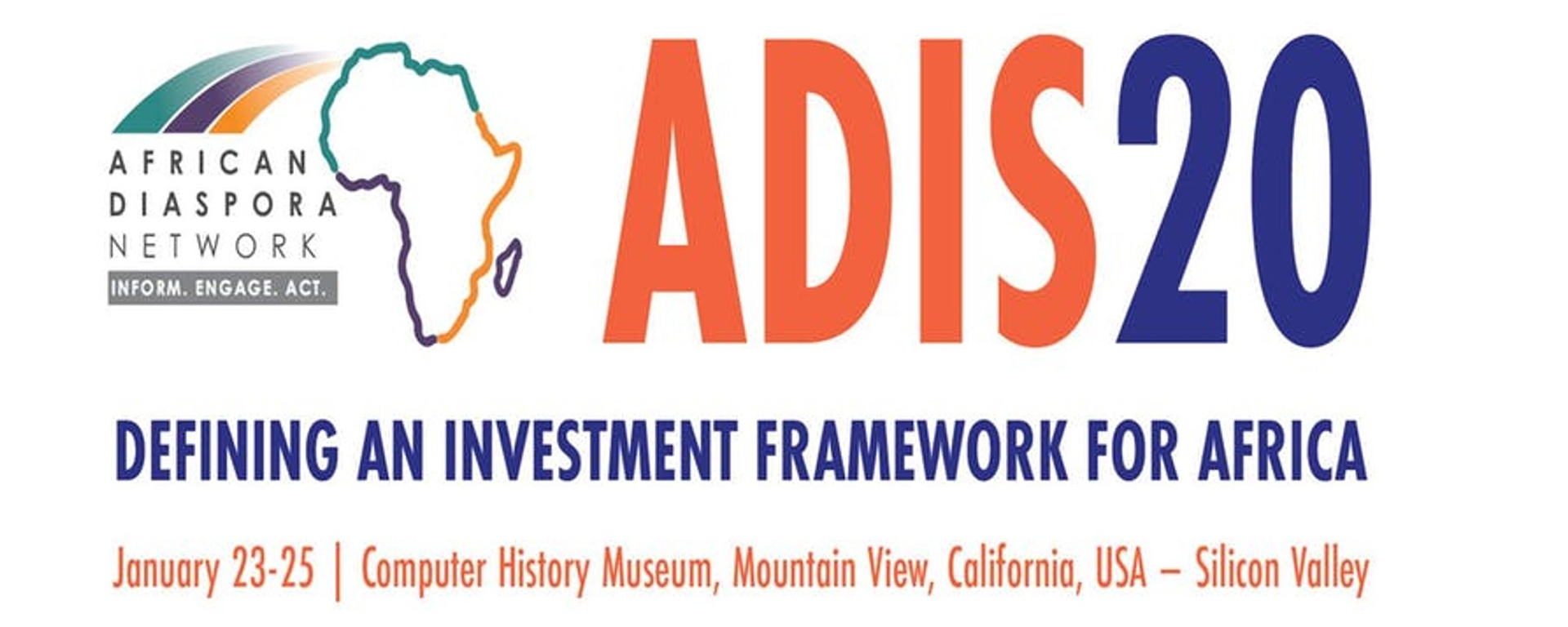 African Diaspora Network - ADIS 2020 - Defining an Investment Framework for Africa Movemeback African event cover image
