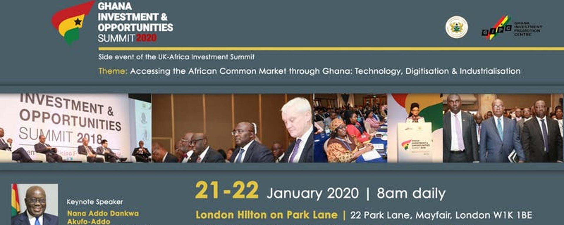 Ghana Investment Promotion Centre - Ghana Investment & Opportunities Summit 2020 Movemeback African event cover image