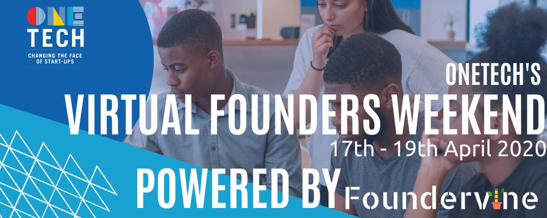 Foundervine - OneTech - Virtual Founders Weekend for 18 - 24 year olds Movemeback African initiative cover image