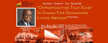 Ghana Homecoming Summit - Ghana Homecoming Summit 2017 Movemeback African event cover image