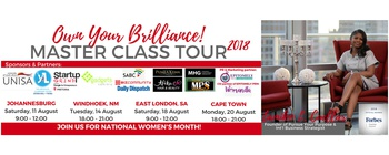 Tamiko Cuellar - Own Your Brilliance! Master Class Tour Movemeback African event cover image