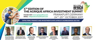 Welcome2Africa - 4th Edition Of The Agrique Africa Investment Summit 2017 Movemeback African event cover image