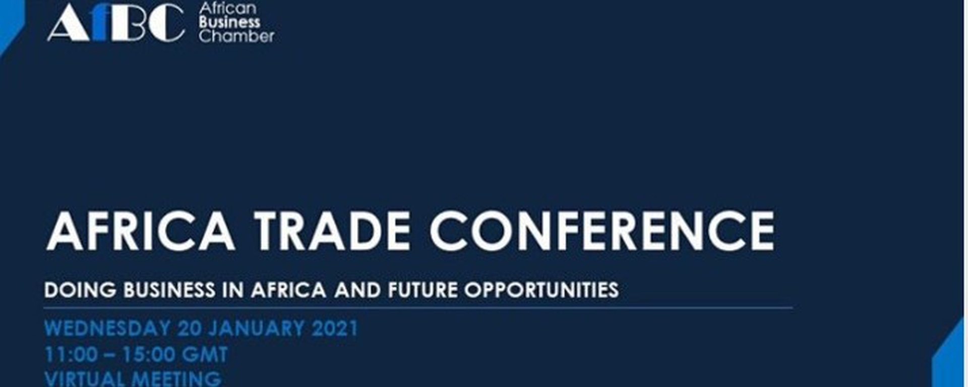African Business Chamber - Africa Trade Conference Movemeback African event cover image
