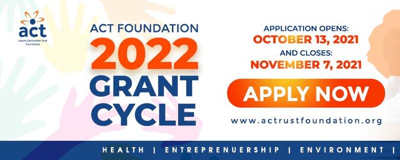 Aspire Coronation Trust Foundation - ACT Foundation Social Enterprises Grants Program Movemeback African initiative cover image