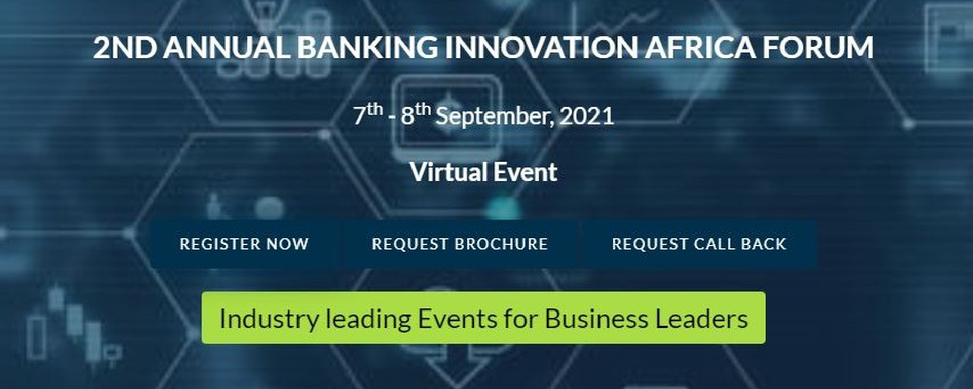 Leadvent Group - 2nd  Annual Banking Innovation Africa Forum Movemeback African event cover image