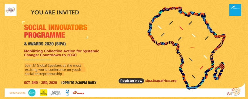 Leap Africa - SIPA 2020 - Social Innovators Programme and Awards Movemeback African event cover image