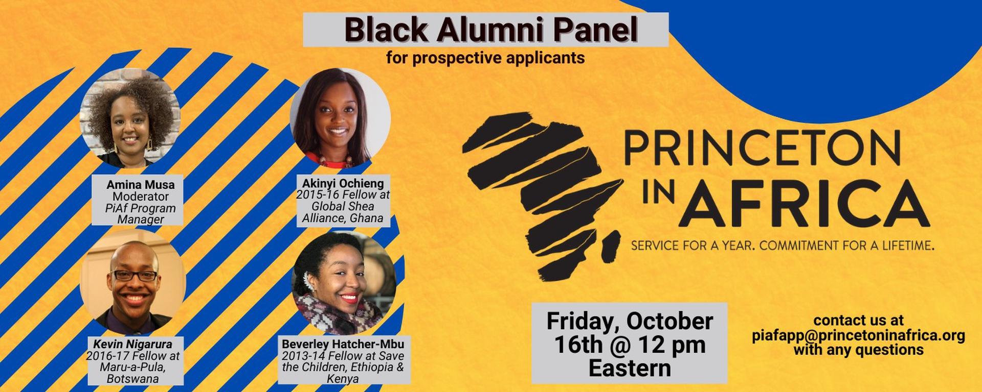 Princeton in Africa - Black Alumni Panel for prospective PiAf applicants Movemeback African event cover image